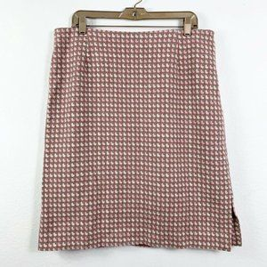 Pendleton 14 Skirt Straight Pencil Wool Knit Pink